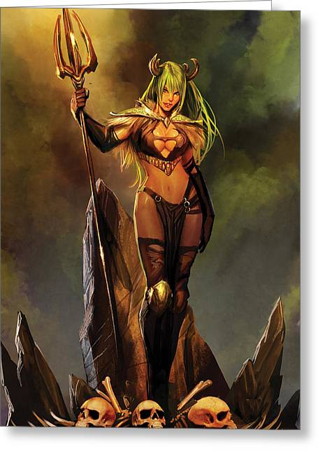 Sela Mathers Greeting Cards - Grimm Universe 03A Greeting Card by Zenescope Entertainment