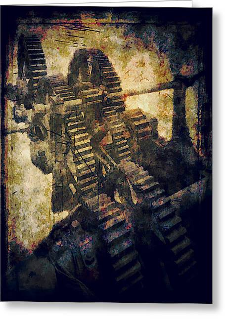 Smelter Greeting Cards - Grinding Gears Greeting Card by Daniel Hagerman