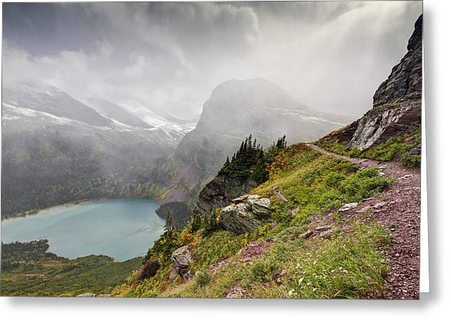 Hiking Greeting Cards - Grinnell Glacier Trail Greeting Card by Mark Kiver