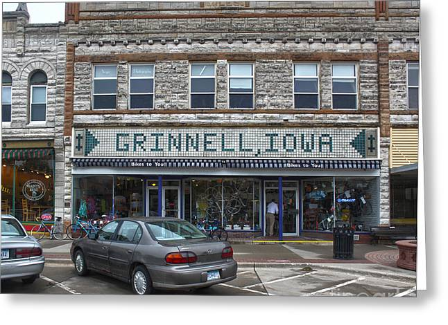 Grinnell Iowa - Downtown - 06 Greeting Card by Gregory Dyer