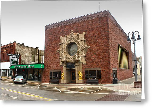 Gregory Dyer Greeting Cards - Grinnell Iowa - Louis Sullivan - Jewel Box Bank - 02 Greeting Card by Gregory Dyer