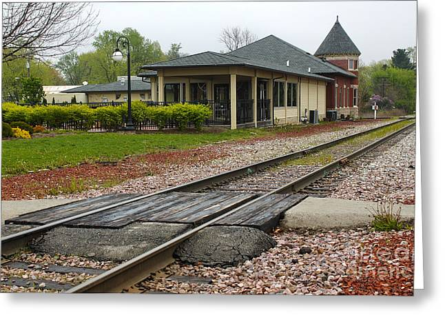 Grinnell Iowa - Train Depot Greeting Card by Gregory Dyer