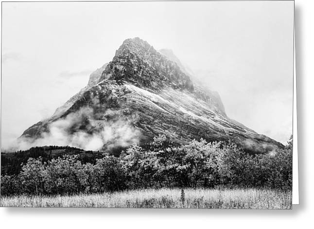 Beauty Mark Greeting Cards - Grinnell Point Black and White Greeting Card by Mark Kiver