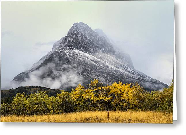 Many Glacier Greeting Cards - Grinnell Point Greeting Card by Mark Kiver