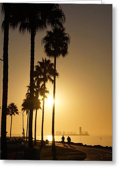 California Beach Greeting Cards - Grissom Island Sunrise Greeting Card by Alex Mobile