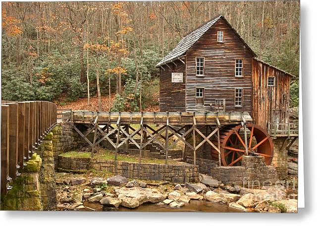 Grist Mill Greeting Cards - Grist Mill Across Glade Creek Greeting Card by Adam Jewell