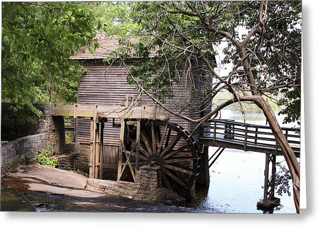 Canvases Greeting Cards - Grist Mill at Stone Mountain Greeting Card by Jim Hatley