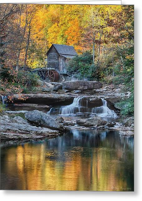 Mills Pyrography Greeting Cards - Grist Mill  Greeting Card by Daniel Behm