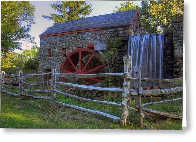 Sudbury Ma Greeting Cards - Grist Mill Greeting Card by David Simons