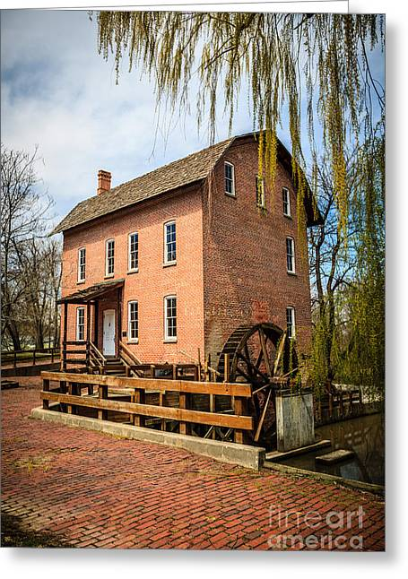 Grist Mill Greeting Cards - Grist Mill in Deep River County Park Greeting Card by Paul Velgos