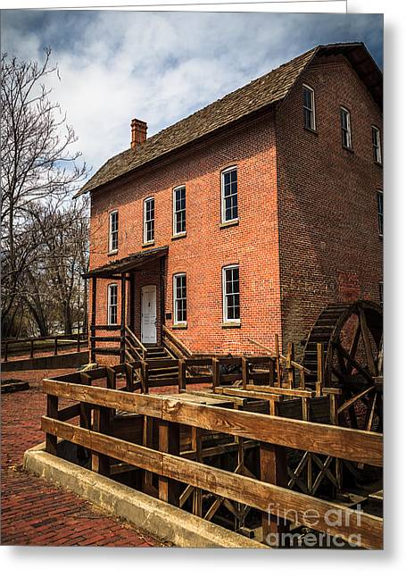 Lake County Greeting Cards - Grist Mill in Hobart Indiana Greeting Card by Paul Velgos
