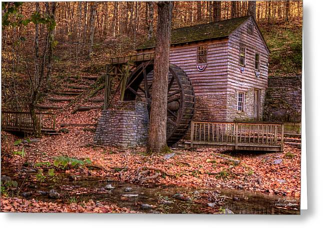 Old Mills Photographs Greeting Cards - Grist Mill In Tennessee Greeting Card by Joe Granita