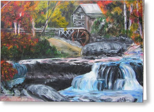 Grist Mill In West Virginia Greeting Card by Lucille  Valentino
