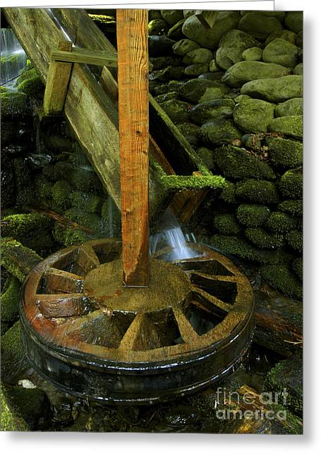 Grist Mill Greeting Cards - Grist Mill power wheel Greeting Card by Paul W Faust -  Impressions of Light