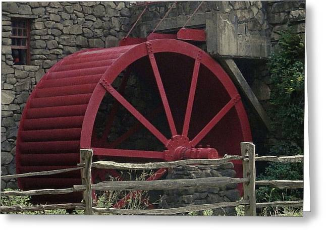 Grist Mill Greeting Cards - Grist Mill Water Wheel Greeting Card by Patricia Urato