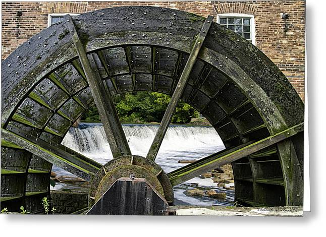 Grist Mill Wheel With Spillway Greeting Card by Thomas Woolworth