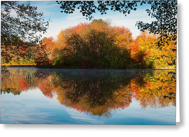 Wayside Inn Greeting Cards - Grist Millpond Framed Greeting Card by Michael Blanchette