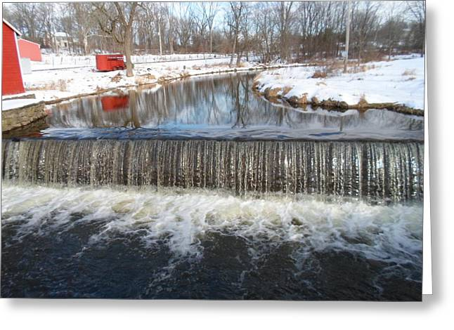 Jenna Mengersen Greeting Cards - Gristmill Waters Greeting Card by Jenna Mengersen