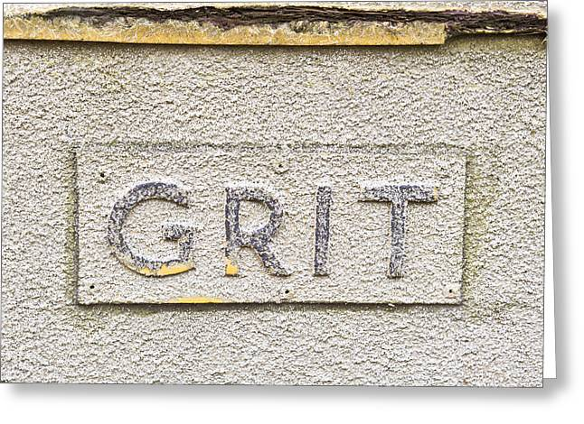 Trough Greeting Cards - Grit sign Greeting Card by Tom Gowanlock