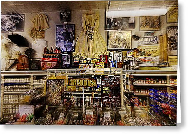 Grocery Store Greeting Cards - Grits and More at Paces Store Greeting Card by Kathy Barney
