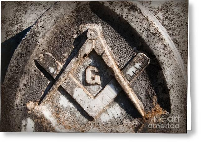 Gritty Freemason Greeting Card by Bob and Nancy Kendrick