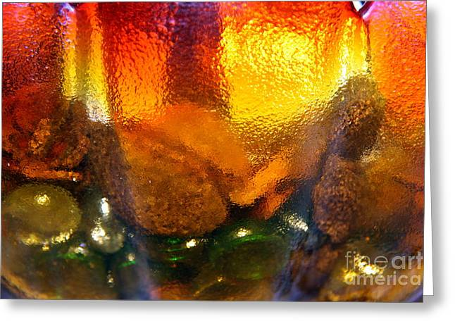 Antique Glass Greeting Cards - Gritty Glass.. Greeting Card by Jolanta Anna Karolska