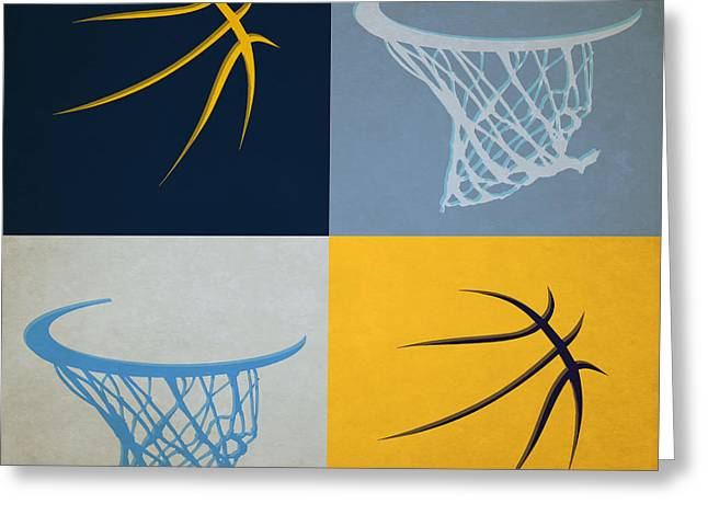 Dunk Greeting Cards - Grizzlies Ball And Hoop Greeting Card by Joe Hamilton