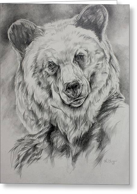 Kodiak Paintings Greeting Cards - Grizzly Greeting Card by Derrick Higgins