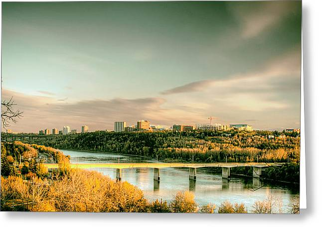 Groat Greeting Cards - Groat Bridge - Edmonton  Greeting Card by Mountain Dreams