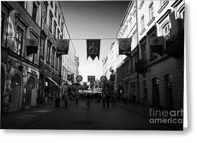 Polish City Greeting Cards - Grodzka Street Leading To The Main Square In Krakow Greeting Card by Joe Fox