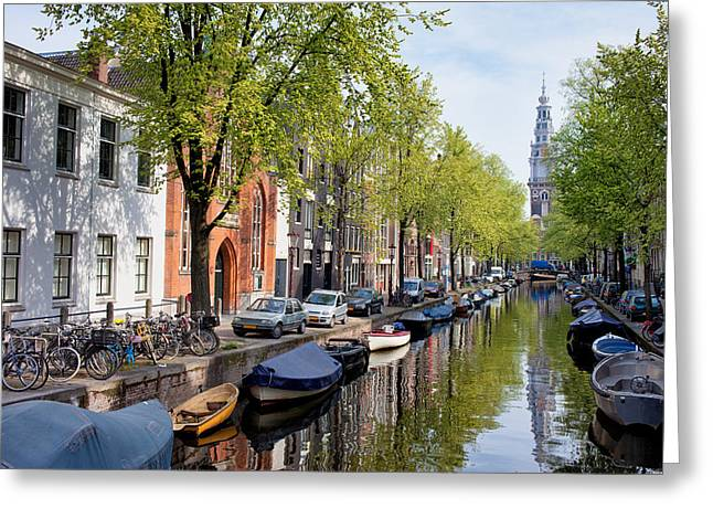 Old Home Place Greeting Cards - Groenburgwal Canal in Amsterdam Greeting Card by Artur Bogacki