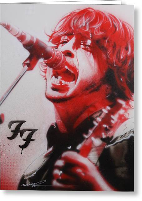 Dave Grohl Framed Prints Greeting Cards - Grohl II Greeting Card by Christian Chapman