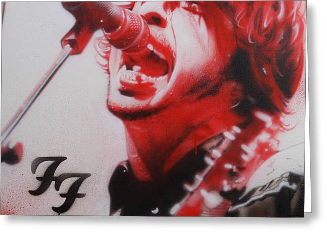 'Grohl II' Greeting Card by Christian Chapman