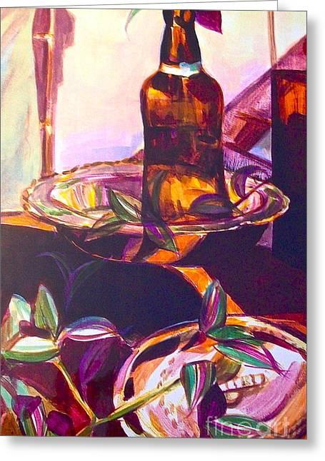 Grolsch Still Life Greeting Card by Linda Zolten Wood