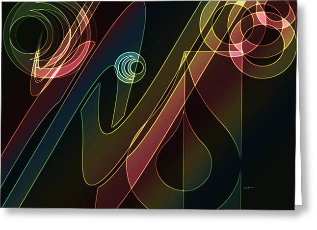 Merging Greeting Cards - Groovin Greeting Card by Anthony Caruso