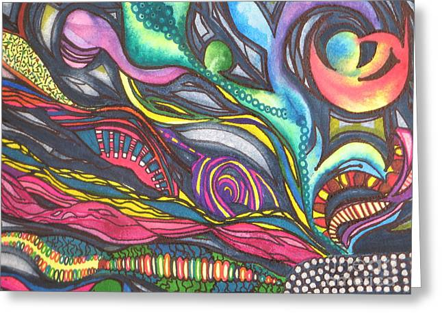 Fantasty Greeting Cards - Groovy Series Titled Thoughts Greeting Card by Chrisann Ellis