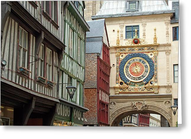 Gros Horloge, Rouen, Normandy, France Greeting Card by Alex Bartel