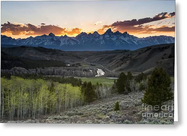 Bridger Teton Greeting Cards - Gros Ventre Road and Foothills Greeting Card by Mike Cavaroc