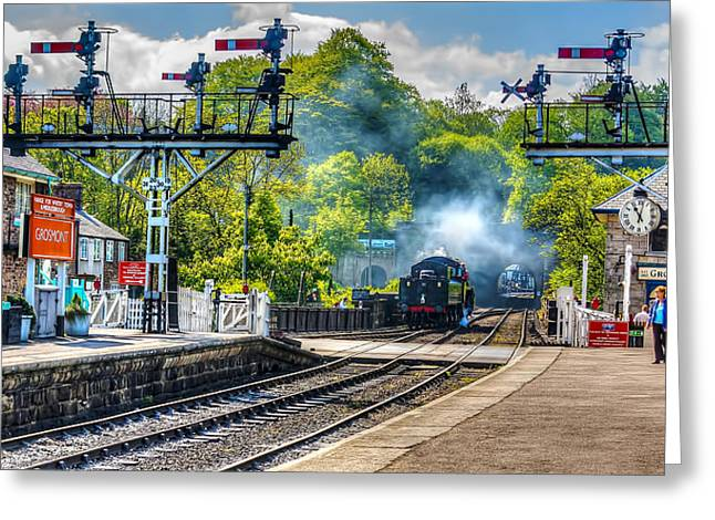 Grosmont Railway Station Greeting Card by Trevor Kersley