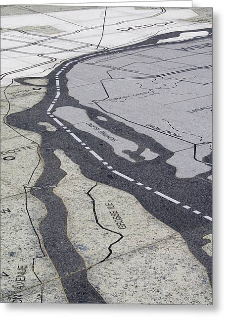 Detroit Greeting Cards - Grosse Isle Map Greeting Card by Gary Marx