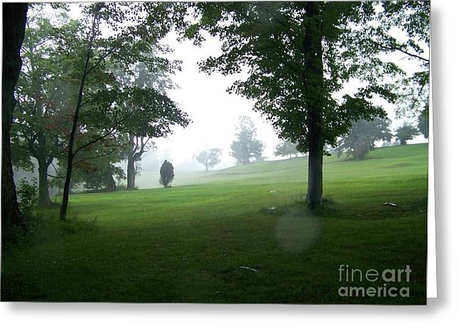 Grossingers Greeting Cards - Grossinger Golf Course Rainy Day  Greeting Card by Kevin Croitz