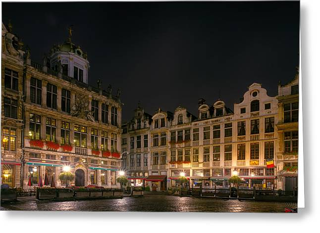 Marketplace Greeting Cards - Grote Markt Brussels Greeting Card by Joan Carroll