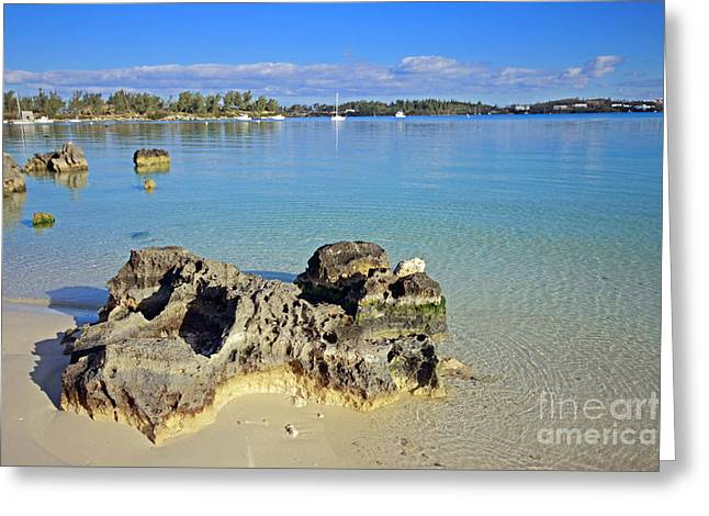 Bermudas Greeting Cards - Grotto Bay Beach Greeting Card by Charline Xia