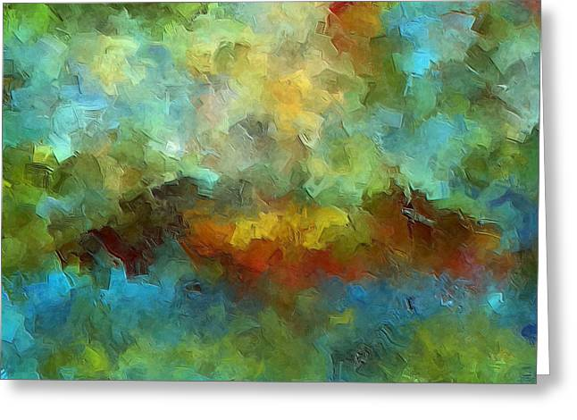 """abstract Art"" Greeting Cards - Grotto Greeting Card by Ely Arsha"