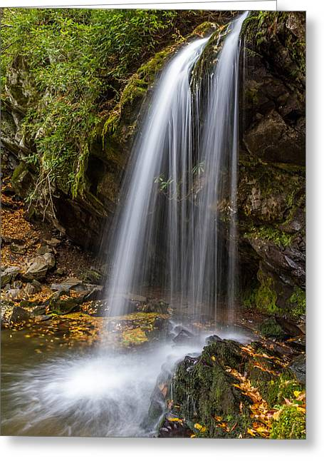 Gatlinburg Tennessee Greeting Cards - Grotto Falls Great Smoky Mountains Greeting Card by Pierre Leclerc Photography