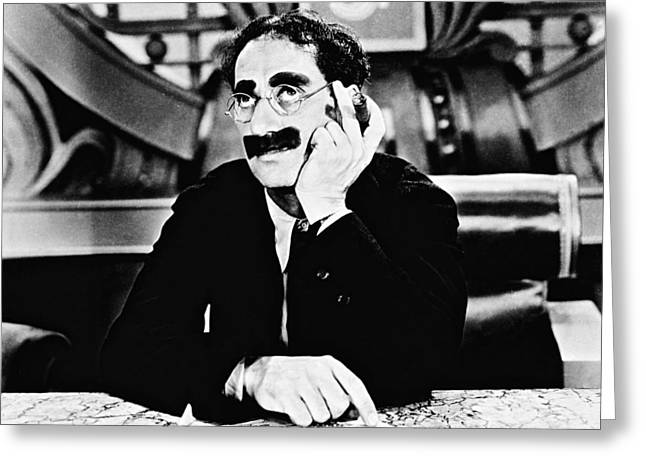 Groucho Greeting Cards - Groucho Marx Greeting Card by Silver Screen