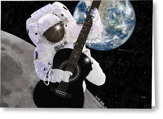 Realistic Greeting Cards - Ground Control to Major Tom Greeting Card by Nikki Marie Smith