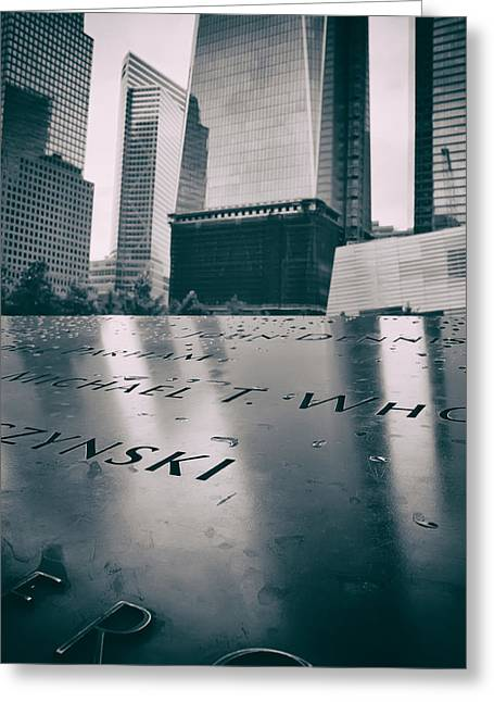 Wtc 11 Greeting Cards - Ground Zero Memorial and Museum Greeting Card by Jaroslav Frank