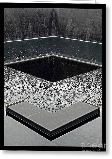 The Twin Towers Of The World Trade Center Greeting Cards - Ground Zero 9-11 Memorial Greeting Card by Joseph J Stevens