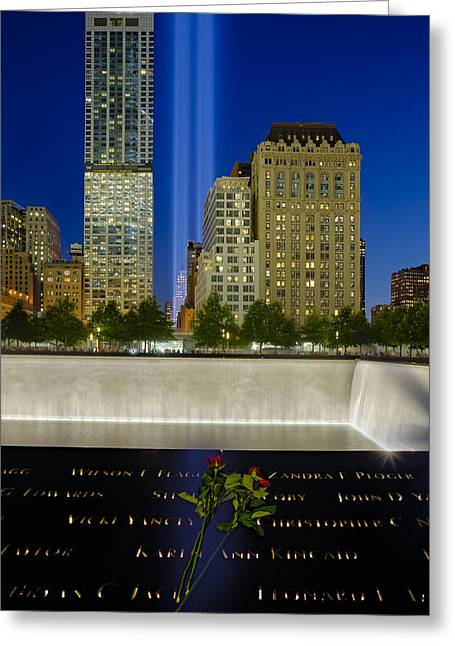 Ground Zero Greeting Card by Susan Candelario